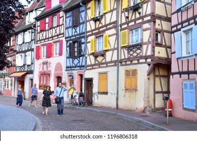 Colmar,France-Aug 18,18 : Beautiful view of the historic and colorful town of Colmar, also known as Little Venice in summer, Colmar, Alsace, France
