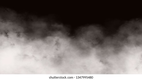 Coloar and  Black and White Fog Stock image