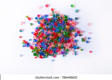Coloful Beads on White