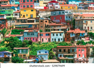 Coloful Houses in Valparaiso Chile