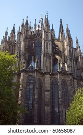 Cologne Cathedral against a blue sky