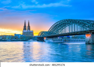 The Cologne Cathedral in Cologne, Germany.