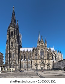 Cologne Cathedral, Germany. Construction of the Cathedral began in 1248. Currently it is the tallest twin-spired church at 157 m (515 ft) tall.