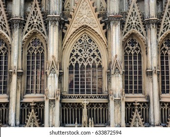 Cologne cathedral in Cologne, Germany, European window pattern
