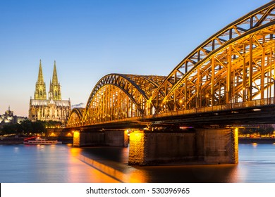 Cologne Cathedral and Hohenzollern Bridge, Cologne, Germany