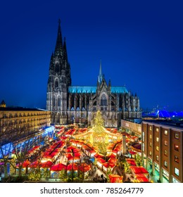Cologne Christmas Market with Cathedral (Dom)