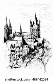 Cologne city sketch