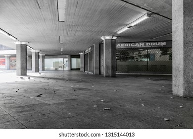 Cologne, Germany, 19 November 2017. Ebertplatz with its subway station and neglected concrete underpass from the seventies has now become a contested urban space.