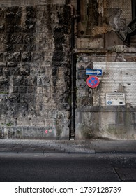 Cologne, Germany, 23 May 2020. Underpass below Hohenzollern Bridge at Cologne Central Station.
