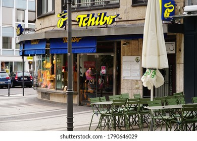 COLOGNE, GERMANY - Aug 02, 2020: German coffee company with a vast number of franchise shop as the shown