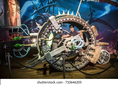 Cologne, Germany, August 22-26th, 2017: Gamescom 2017: Warhammer vehicle