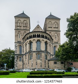 Cologne, Germany - August 28 2018: Romanesque Basilica St. Kunibert