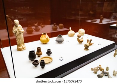 Cologne, Germany – Augustus 09.2018: The Roman-Germanic Museum has a collection of Roman artefacts from the Roman settlement of Colonia Claudia Ara Agrippinensium, on which modern Cologne is built.