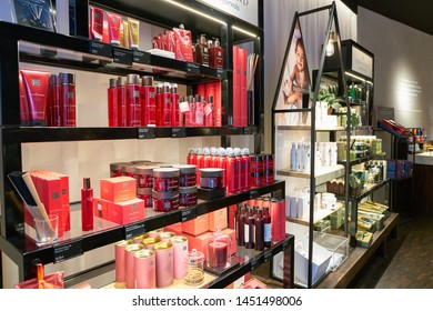 COLOGNE, GERMANY - CIRCA OCTOBER, 2018: interior shot of Rituals cosmetics store in Cologne.