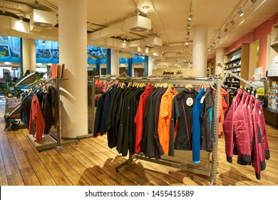COLOGNE, GERMANY - CIRCA OCTOBER, 2018: interior shot of Globetrotter store in Cologne.
