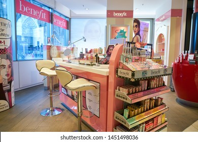 COLOGNE, GERMANY - CIRCA SEPTEMBER, 2018: interior shot of a Douglas cosmetics store in Cologne.