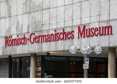 Cologne, Germany - February 16th 2020: The exterior of the Romisch Germanisches Museum in the city of Cologne in Germany.  The museum shows the archaelogical heritage of the city.