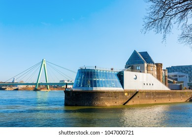 Cologne, Germany - February 24, 2018: Imhoff-Schokoladenmuseum in Cologne. It was opened 1993 and belongs with about 675.000 visitors a year to the Top Ten of German museums