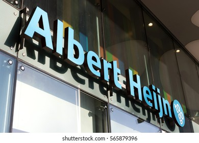 COLOGNE, GERMANY - January 22, 2017:  Albert Heijn to go convenience store. Albert Heijn is the largest Dutch supermarket chain, founded in 1887.
