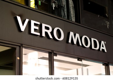 Cologne, Germany - January 29, 2017: Vero Moda store. Vero Moda is part of Bestseller group. The fashion company has 5,700 retail store providing women clothes