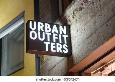 Cologne, Germany - January 29, 2017: Urban outfitter store. Urban Outfitters, Inc. is an American multinational clothing corporation headquartered in Philadelphia, Pennsylvania