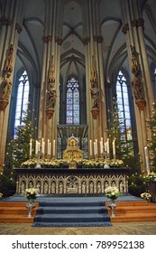 Cologne, Germany - January 6, 2018: Epiphany shrine in Cologne Cathedral