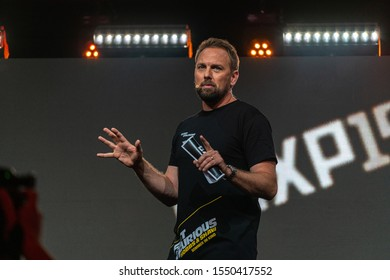 COLOGNE, GERMANY - JUN 28th 2019: Steven Gätjen (*1972, American-german television hostAmerican-german television host) at CCXP Cologne, a four day fan convention