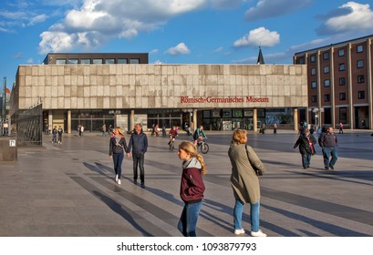 COLOGNE, GERMANY - MAY 1, 2018: Photo of The Roman-German Museum.