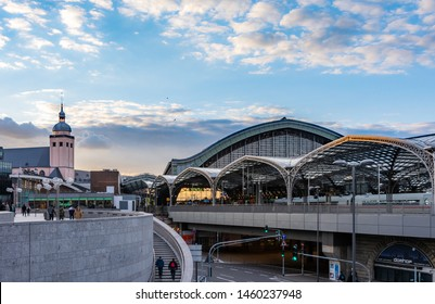 COLOGNE, GERMANY - MAY 12: The central railway station of Cologne, Germany on May 12, 2019.