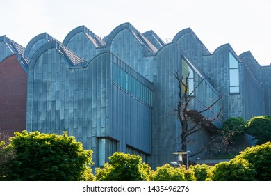 COLOGNE, GERMANY - MAY 12: Cologne Philharmonic Hall in Cologne, Germany on May 12, 2019. Cologne Philharmonic Hall (Kölner Philharmonie) is one of the best designed modern concert halls in the world