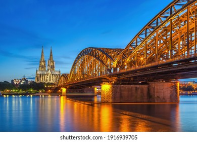 Cologne Germany, night city skyline at Cologne Cathedral (Cologne Dom) - Shutterstock ID 1916939705