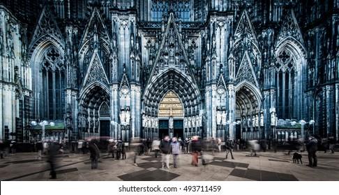 Cologne , Germany -  November 28 , 2014 :  Cologne Cathedral in Koln , Germany