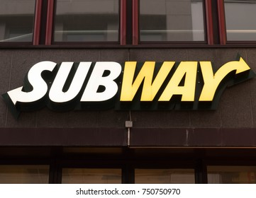 Cologne, Germany - October 29, 2017: Subway Store Logo