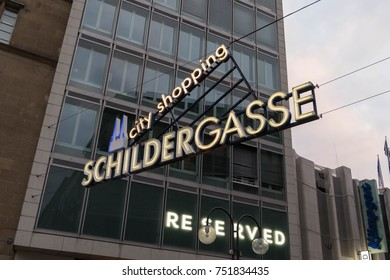 Cologne, Germany - October 29, 2017: Schildergasse