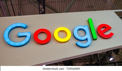 COLOGNE, GERMANY SEPTEMBER, 2017: Google logo sign. Google is a multinational technology company specializing in Internet-related services and products.