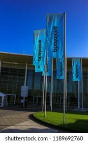 COLOGNE, GERMANY - SEPTEMBER 25, 2018: Photokina imaging fair at September 25th, 2018