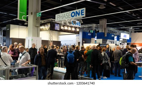 COLOGNE, GERMANY - SEPTEMBER 26, 2018: PHASE ONE stand at Photokina 2018 Imaging fair