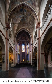 Cologne, Germany - September 6 2014: Interior of the Romanesque church St. Maria in Lyskirchen
