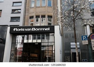 Cologne, North Rhine-Westphalia / Germany - March 25, 2019: Floris van Bommel Store in Downtown Cologne