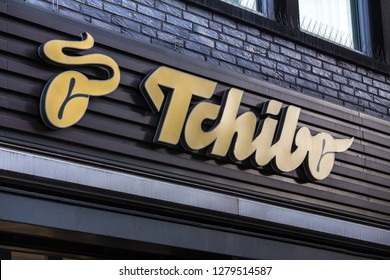 cologne, North Rhine-Westphalia/germany - 06 11 18: tchibo sign in cologne germany