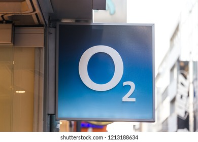 cologne, North Rhine-Westphalia/germany - 17 10 18: O2 sign in cologne germany