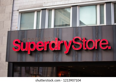 cologne, North Rhine-Westphalia/germany - 17 10 18: superdry sign in cologne germany
