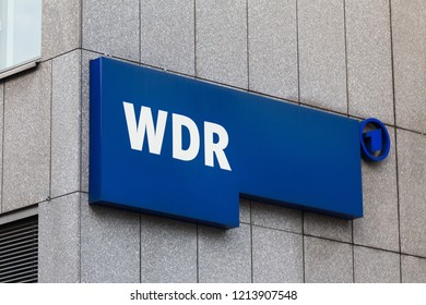 cologne, North Rhine-Westphalia/germany - 17 10 18: wdr sign on an building in cologne germany