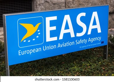 cologne, North Rhine-Westphalia/germany - 27 11 19: easa agency sign in cologne germany