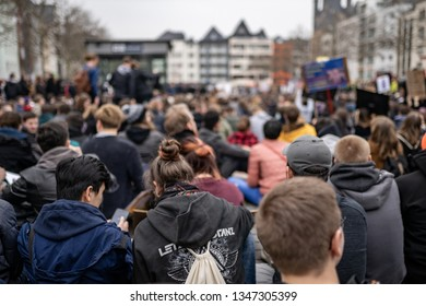 Cologne, NRW/Germany - 03.23.2019: People in cologne demonstrating against article 13 and upload filter