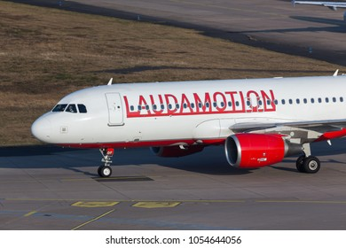 cologne, nrw/germany - 24 03 18: lauda motion airplane at cologne bonn airport germany