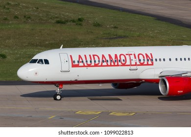 cologne, nrw/germany - 25 05 18: lauda motion airplane at cologne bonn airport germany