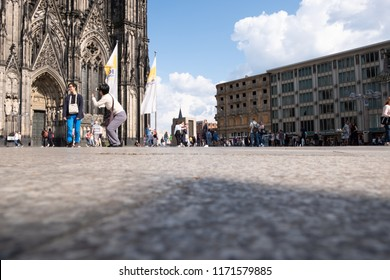 Cologne, NW/Germany - 07.09.2018 Domplatte - Square in front of the Cologne Cathedral