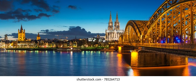 Cologne Skyline with Cathedral (Dom)