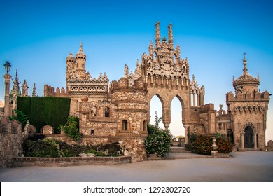 Colomares Castle Benalmadena Malaga Costa del Sol Spain gothic moorish architecture